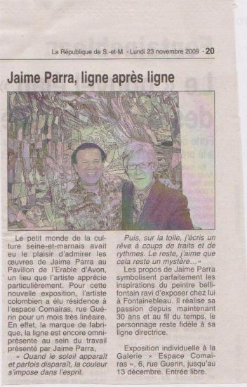 La Republique de Seine et Marne, nov 2009