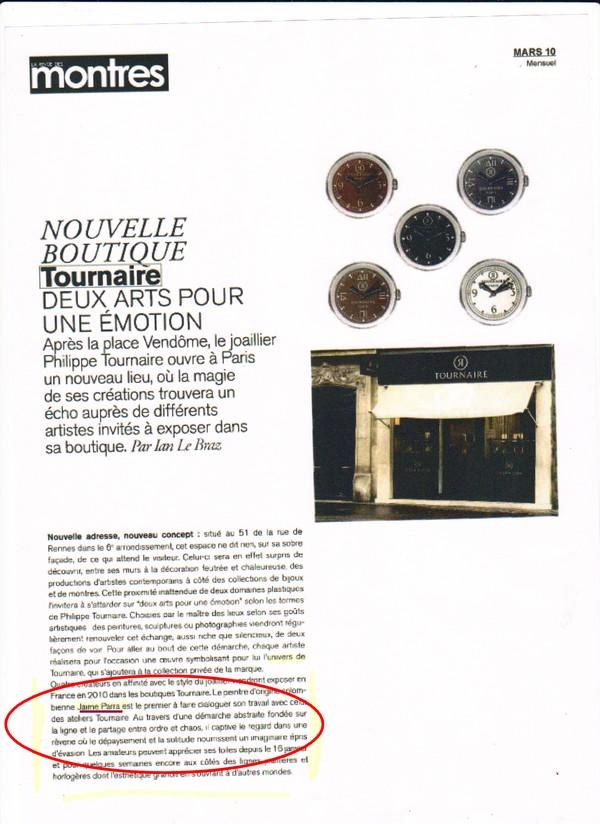 La revue des montres, mars 2010