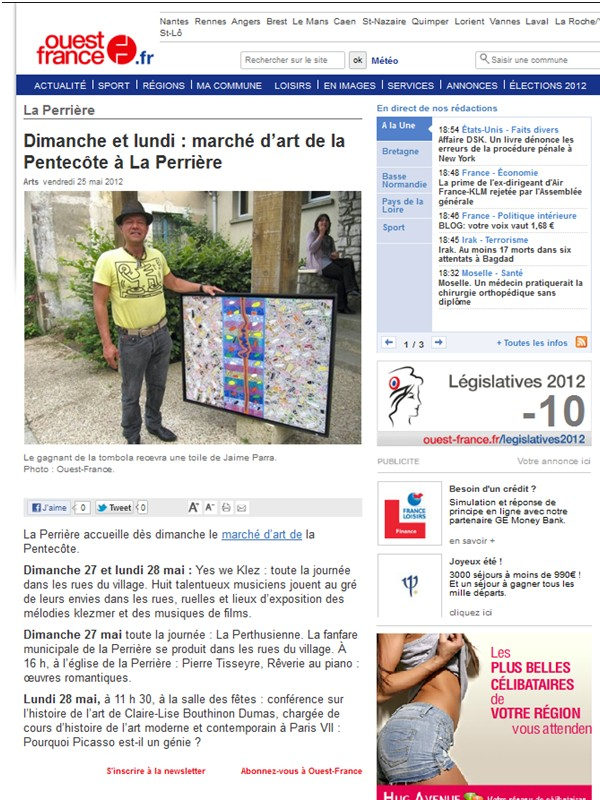article Ouest France 25 mai 2012