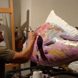 """Travail sur la sculpture """"La pêche miraculeuse"""""""